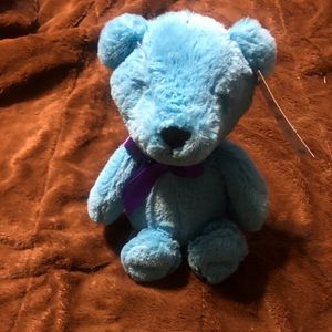 NWT blue teddy bear plush